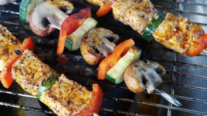 grilled skewers, healthy